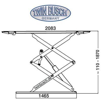 Elevador de tijeras profesional doble 3.0 t - sobre suelo