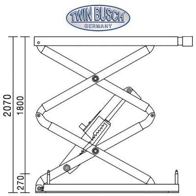 Elevador de tijeras bajo suelo - 3.0 t