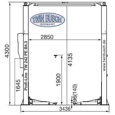 Elevador 2 columnas - sin base - Profi Line