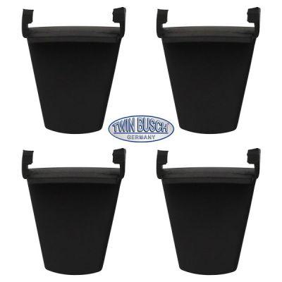 Set de 4 protectores de plástico para pinzas de sujeción (corto)