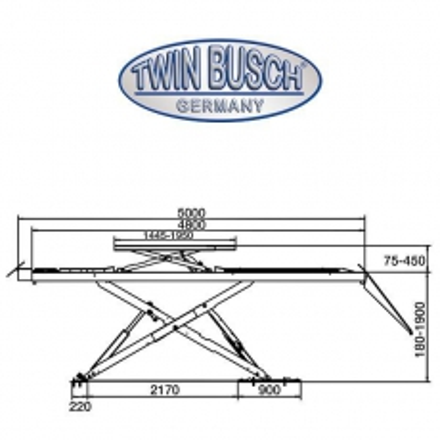 Elevador de tijeras de 4 t - Instalación sobre suelo
