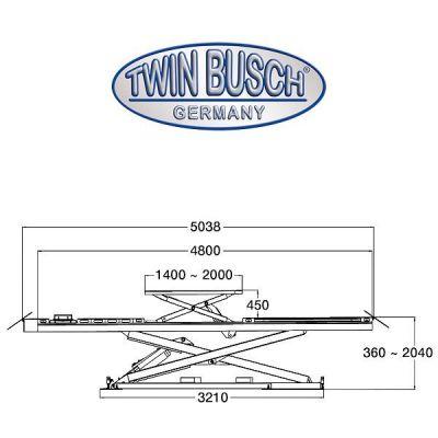 Elevador de tijeras de 4,2 T