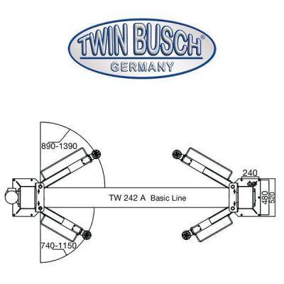 Elevador de 2 columnas - Basic Line - 4.2 t - antracita