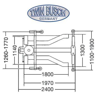 Elevador móvil de una columna de 2,5 t - Ultra plano - Portátil