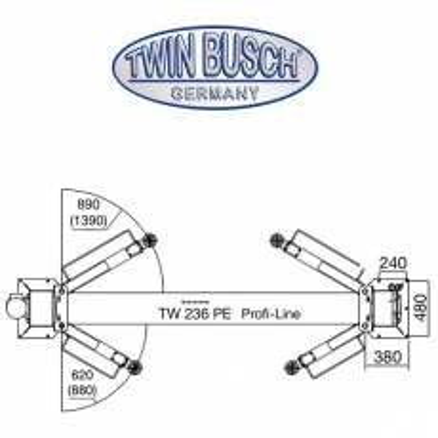 Elevador de 2 columnas - 3,6 t - Profi-Line