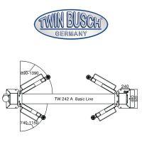 Set - Elevador de dos columnas TW 242 A + Desmontadora de ruedas TW X-610 + Equilibradora de ruedas TW F-150